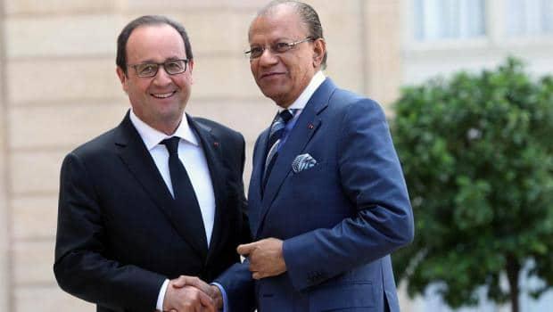 Navin Ramgoolam et Francois Hollande