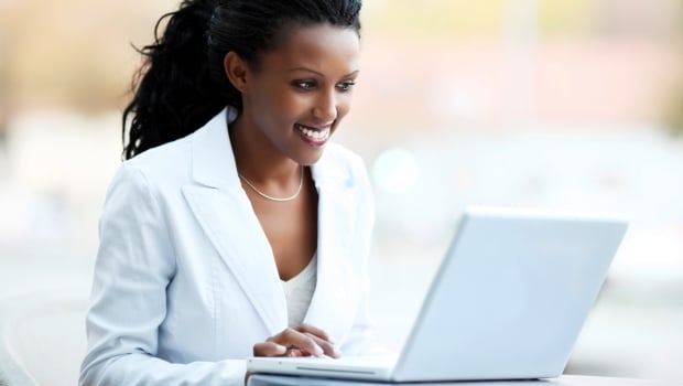 Attractive African businesswoman.