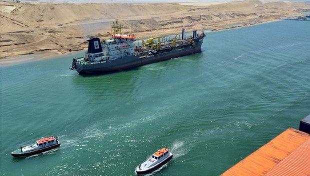 Egypte: premier test du nouveau canal de Suez