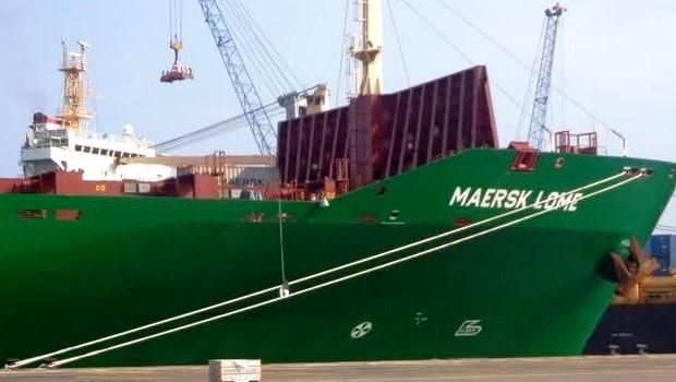MAERSK Lomé: Le Togo a son premier navire marchand moderne