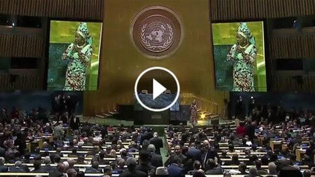 ONU: Angelique Kidjo chante en faveur développement durable