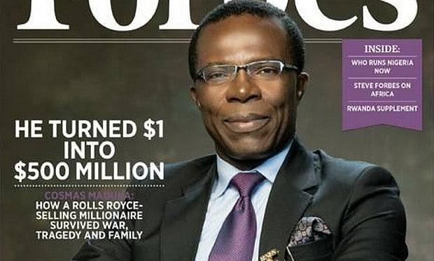 Cosmas Maduka: le Nigérian qui transforme 1$ en 500 million$