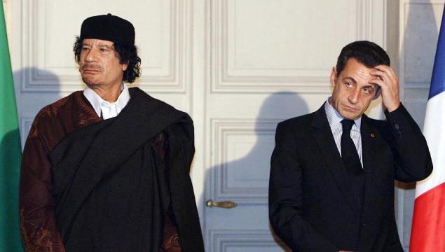 Kadafi- Sarkozy