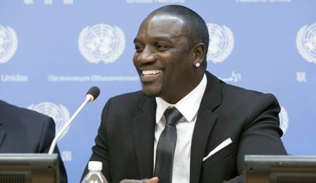 United Nations, New York, USA, May 20 2015 - Akon, American R&B artist and co-founder of Akon Lighting Africa initiative, speaks during a press conference on Sustainable Energy for All: Actions and Commitments at UN headquarters On the Photo: Singer Akon Credit: Luiz Rampelotto/EuropaNewswire