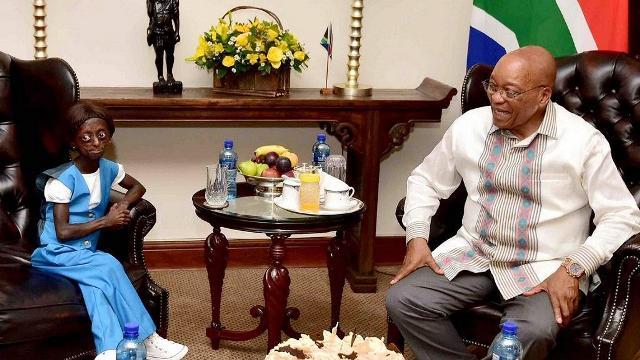 Afrique du Sud: le président Zuma surprend Ontlametse Phalatse le jour de son anniversaire