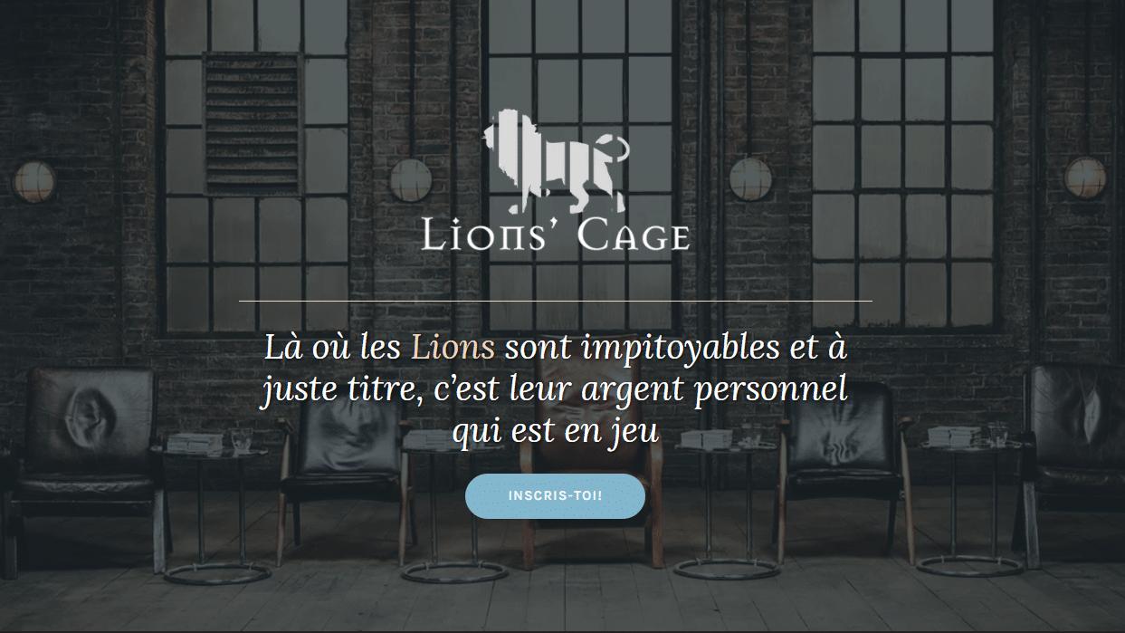lions en cage