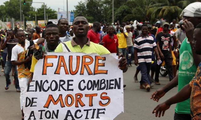 Togo: le nombre de morts en 72 heures, un chiffre inquiétant !