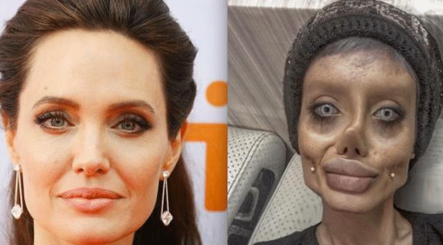 Son sosie flippant était un fake — Angelina Jolie