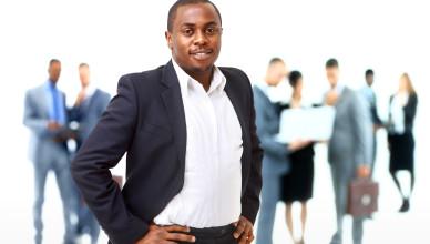 Portrait of smart African American business man